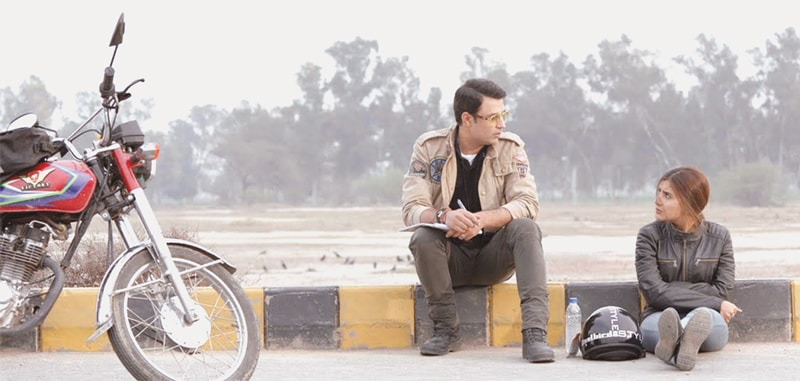 Adnan Sarwar and Sohai Ali Abro in a scene from Motorcycle Girl