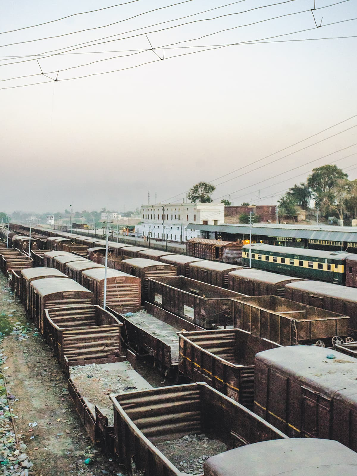 Carriages at Sukkur Railway Station | Mohammad Ali, White Star