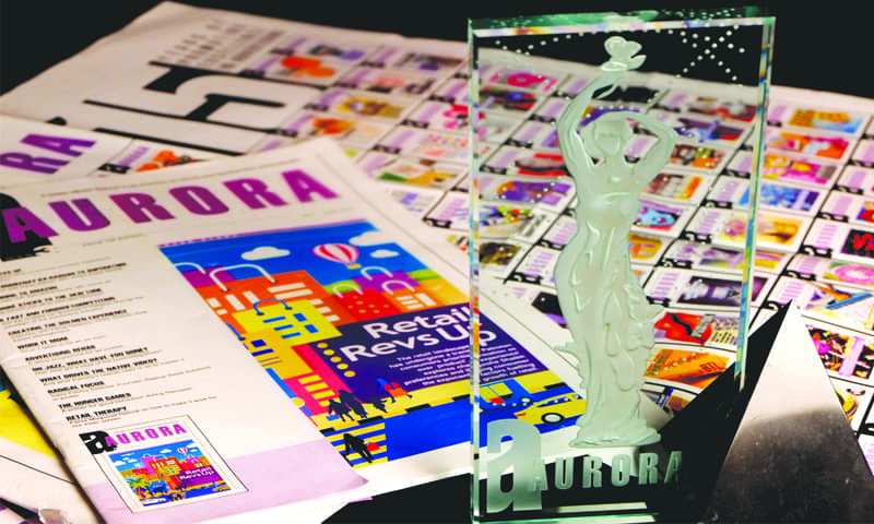 <em>Aurora</em> is published by The Dawn Media Group and was launched in 1998 with the objective of providing in-depth information and analysis on all aspects of Pakistan's vibrant advertising, marketing and media industries. Published every two months, the magazine tracks, reports and comments on developments in what is today a fast-paced industry. Aurora is read by C-suite marketing and agency professionals, brand and account directors. The magazine has instituted the Aurora Awards, which recognise the best advertising across all media in Pakistan. (photo: Malika Abbas/ Dawn White Star)