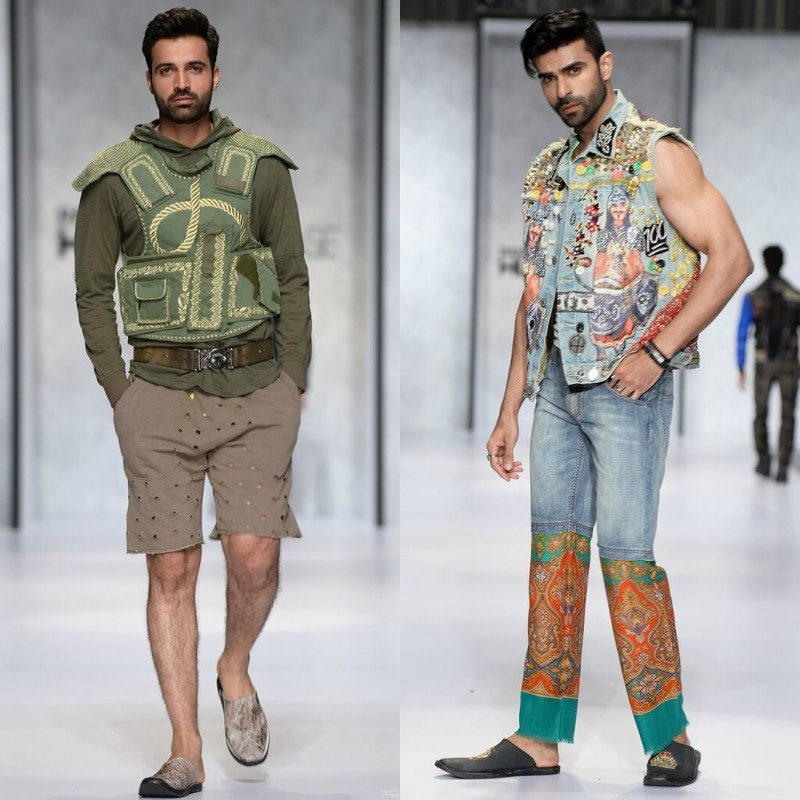 Some of the more...interesting looks from Jazib Qamar's 2018 Spring/Summer collection