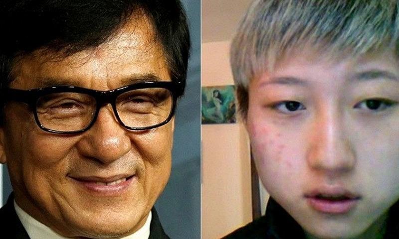 جیکی چن نے واضح طور پر ایتا نگ کو اپنی بیٹی تسلیم نہیں کیا—فائل فوٹو: ورلڈ نیوز