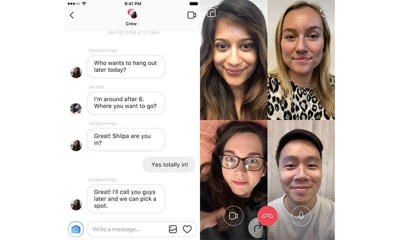 انسٹاگرام میں ویڈیو کالنگ ایسی ہوگی — فوٹو بشکریہ فیس بک