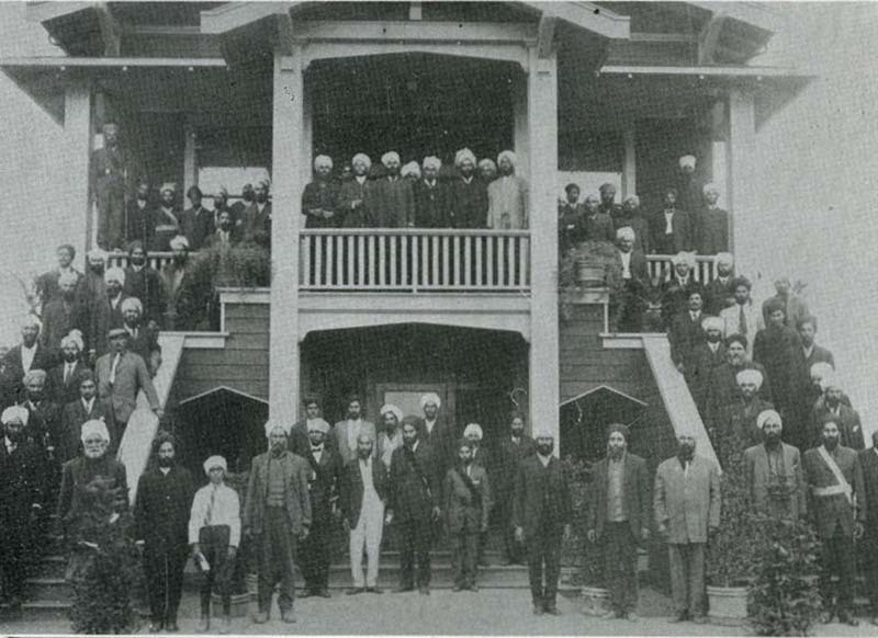Stockton gurdwara, 1916. The Ghadar Movement was an effort by India expatriates to liberate India from colonial rule.—The Hindusthanee Student/Wikimedia Commons