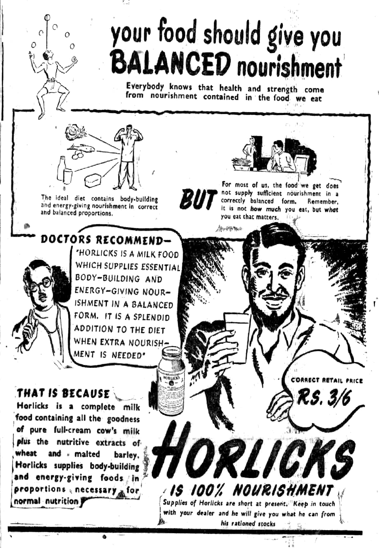Horlicks ad –1948