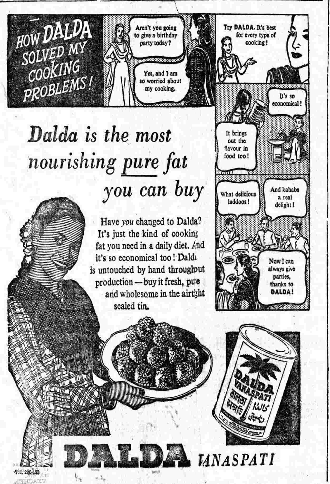 Dalda's ad from 1954