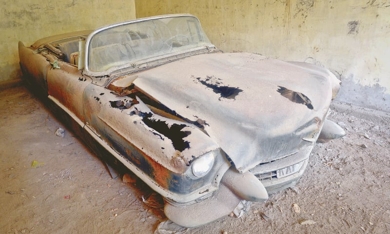 The battered and ruined Cadillac in 2016 | Photo Fahim Siddiqi/White Star