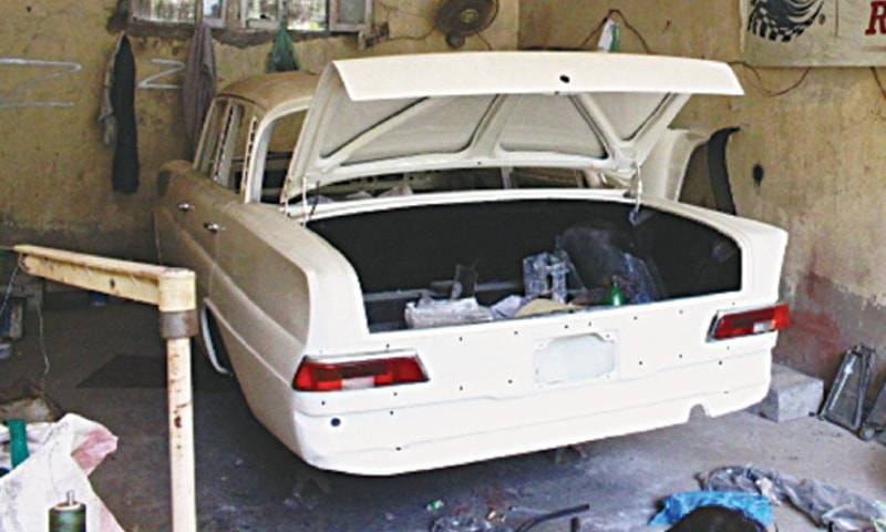 Eighty percent restoration work done on the Mercedes | Photo Fahim Siddiqi/White Star