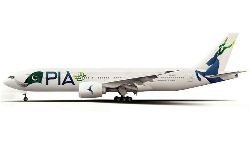 پی آئی اے طیاروں کی دم پر مارخور کی تصویر پینٹ ہے — فائل فوٹو