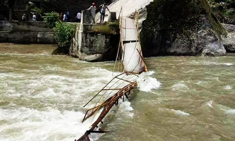 6 people drown as footbridge collapses in Neelum Valley, 6 still missing: officials