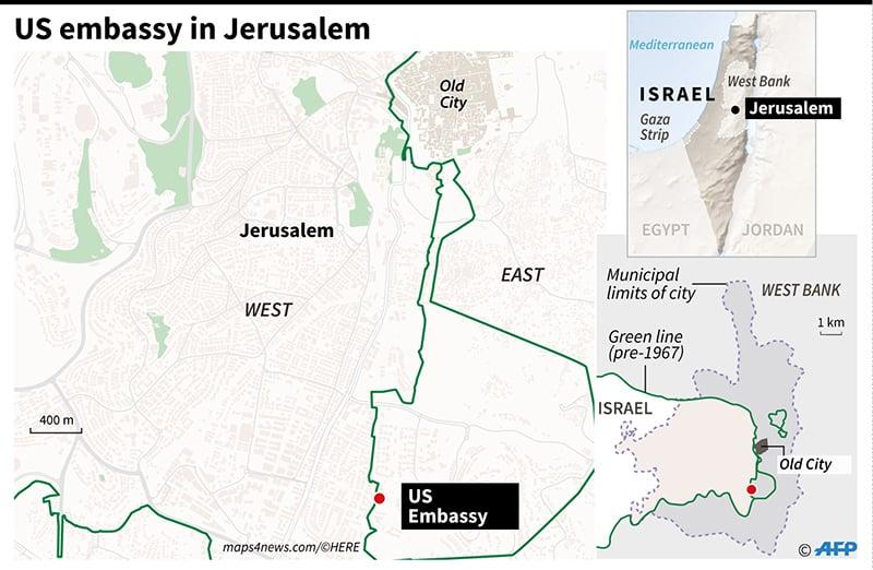The US embassy in Jerusalem. —AFP