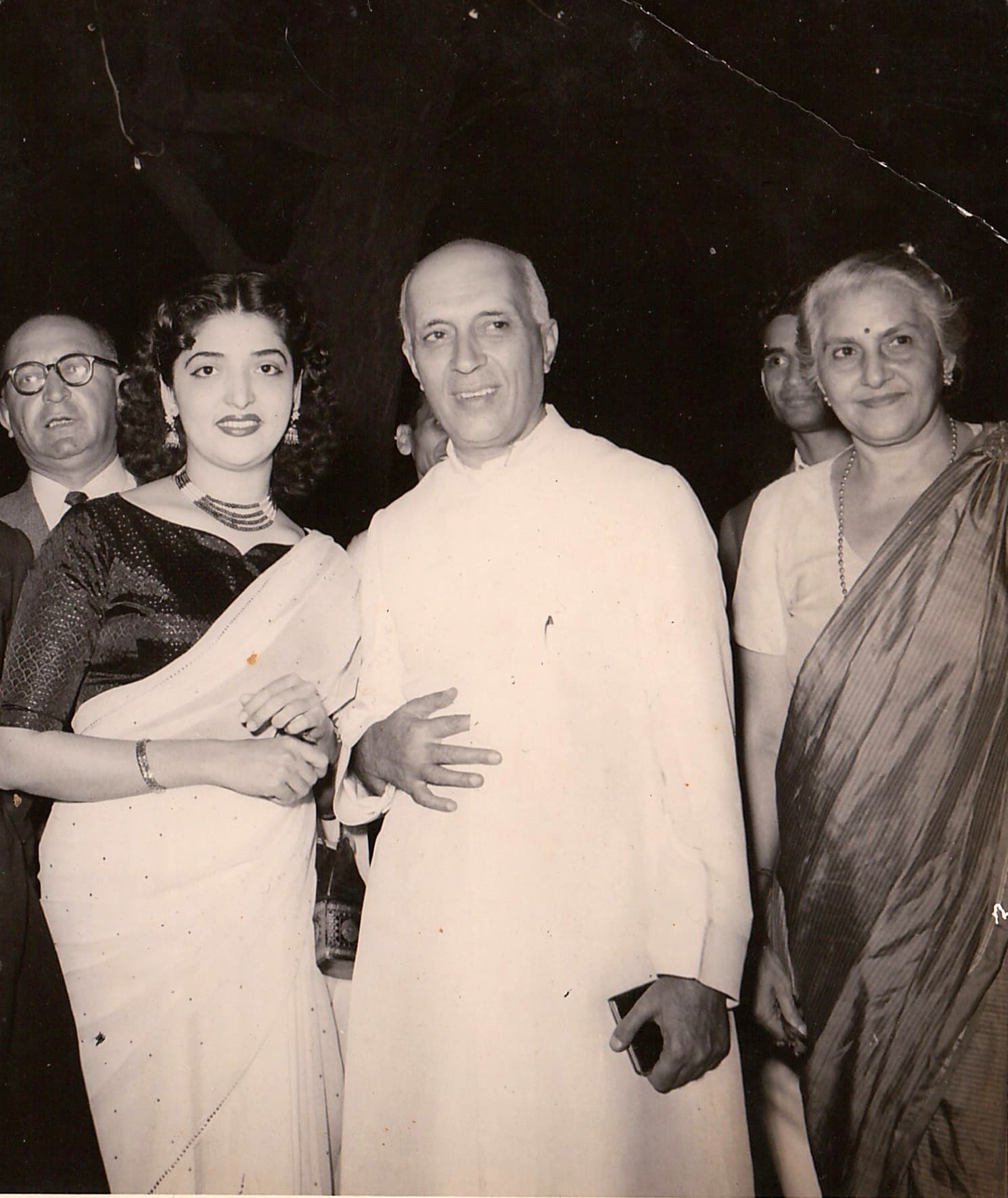 With Prime Minister Nehru