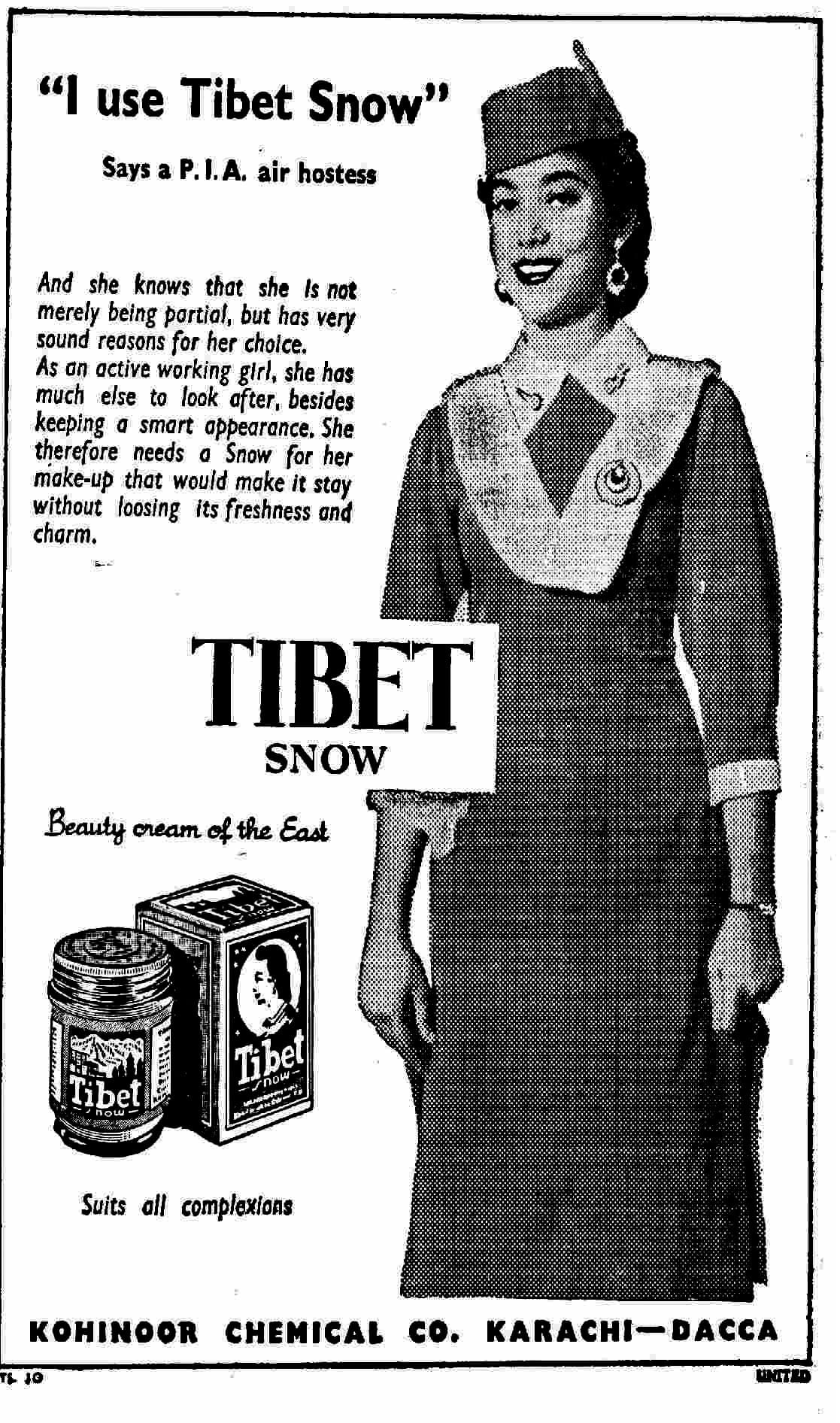 Tibet's ad from 1956
