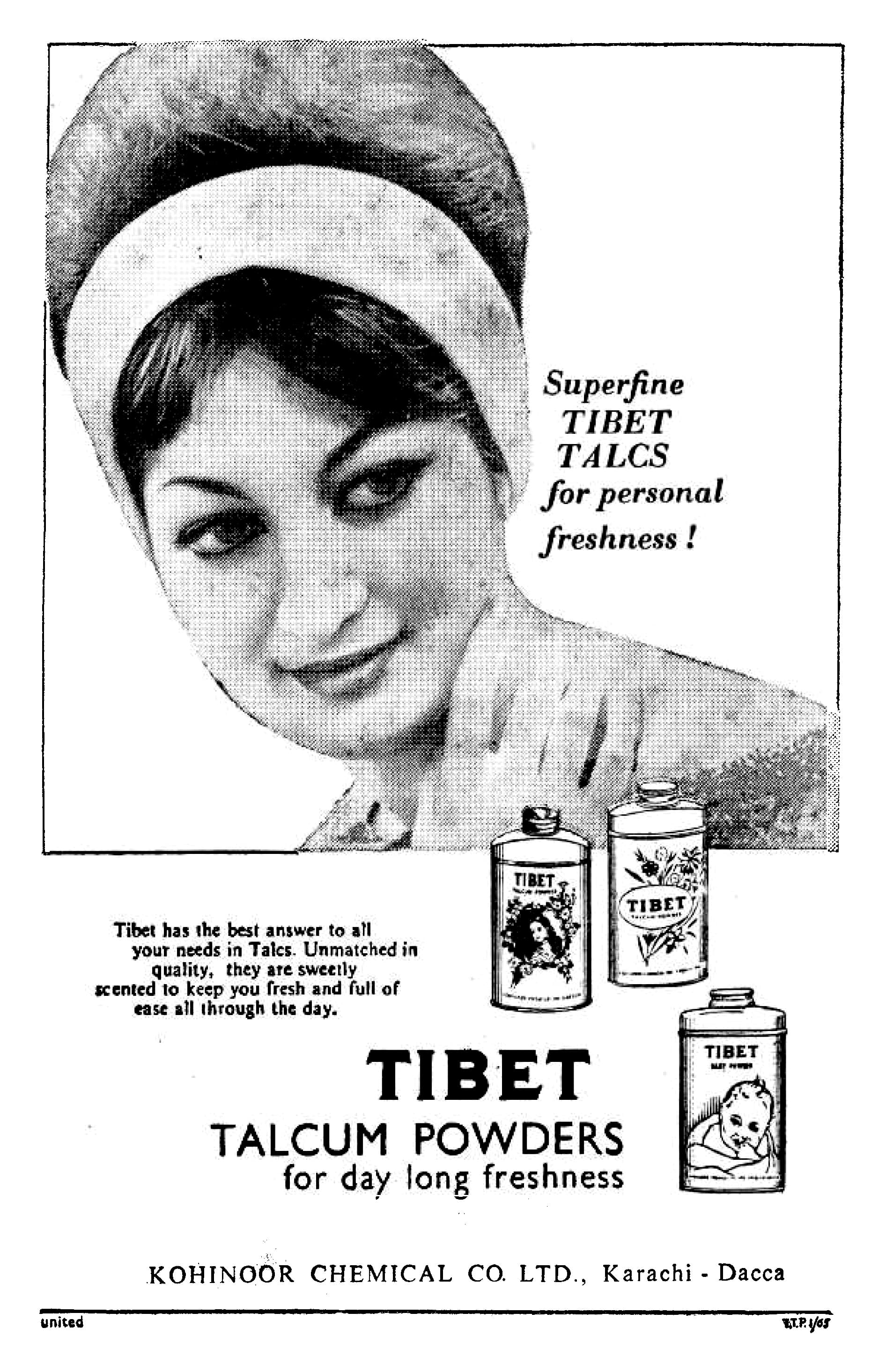 Tibet's ad from 1965