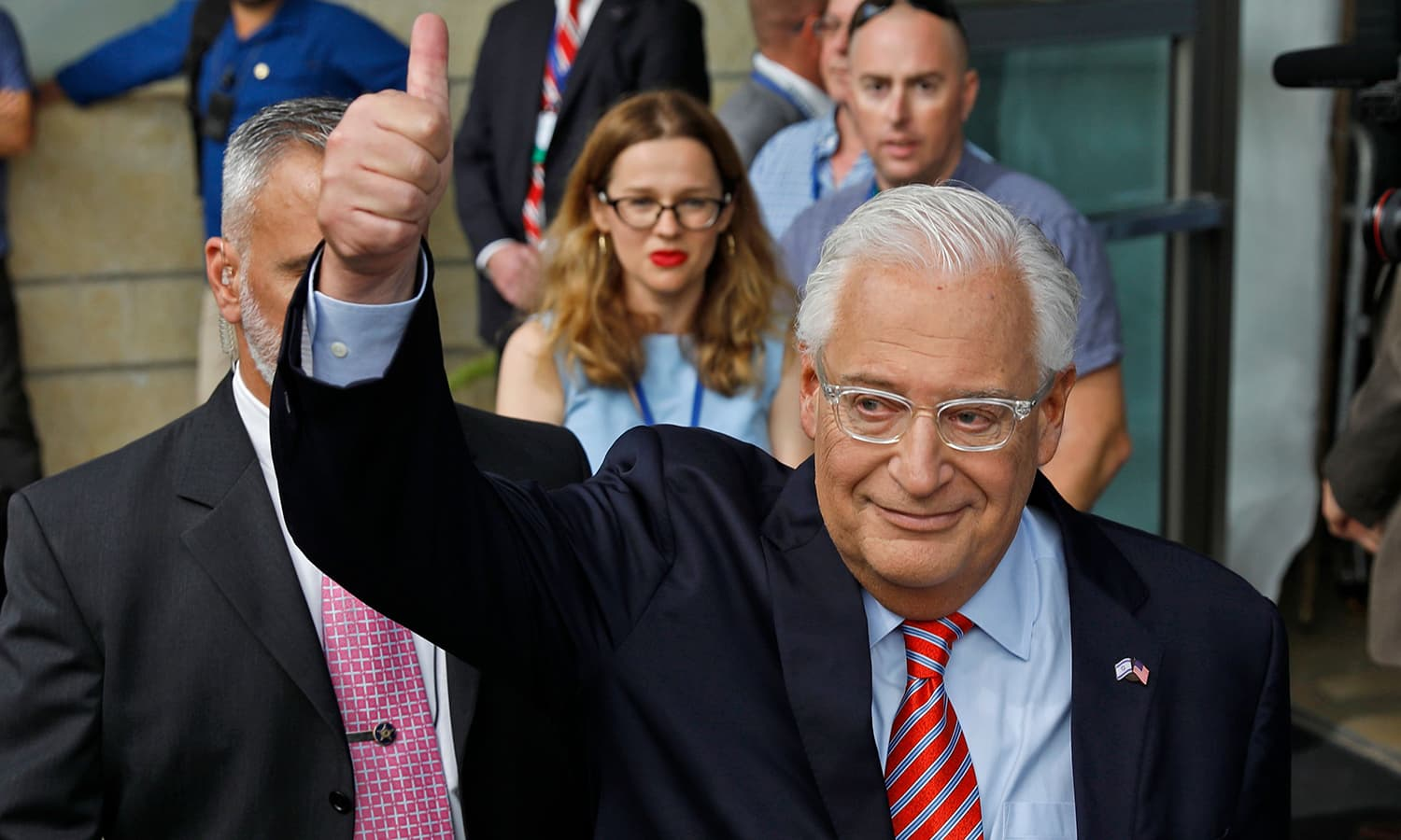 US Ambassador to Israel David Friedman arrives ahead of the inauguration of the US embassy in Jerusalem. — AFP