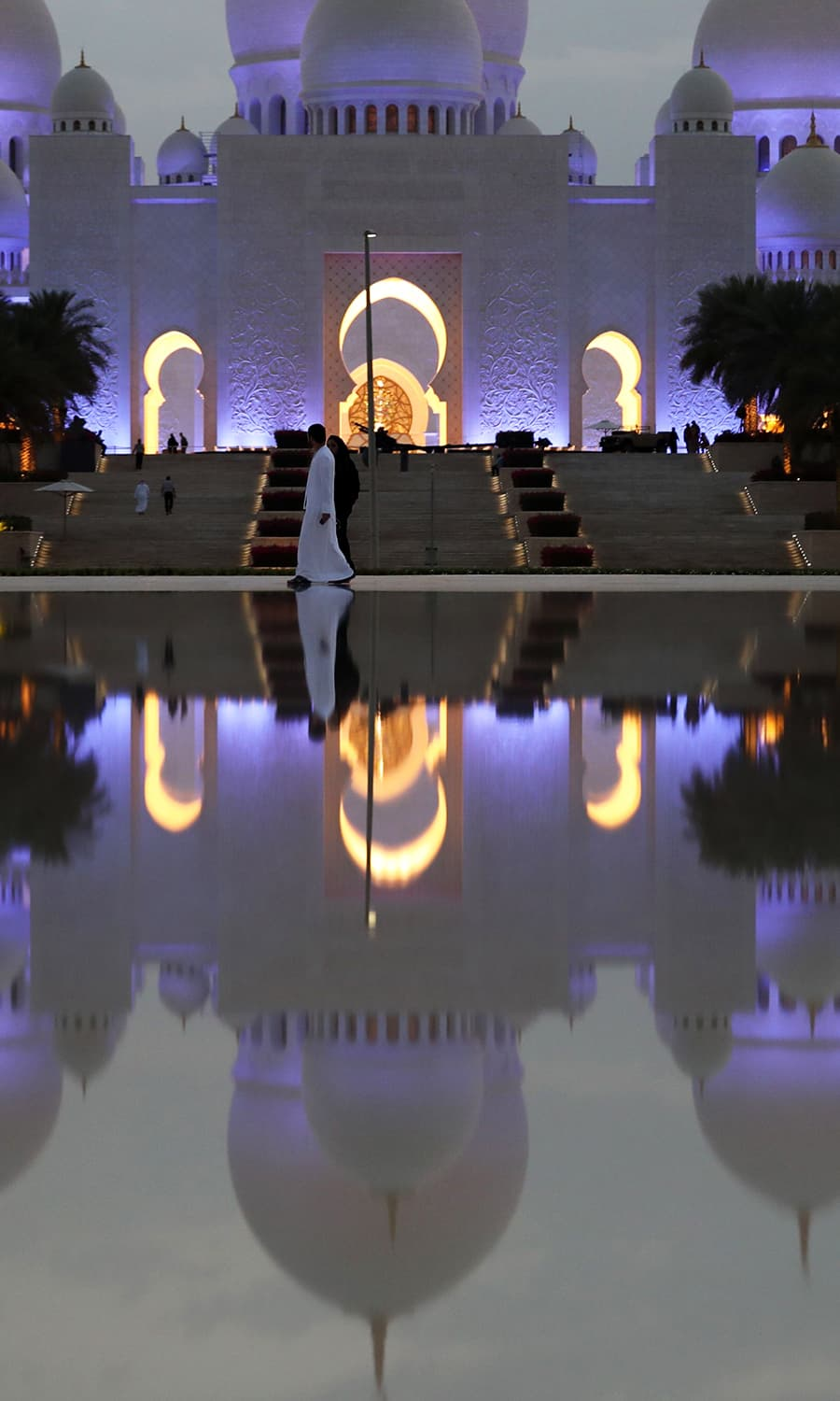 Picture shows the Sheikh Zayed Grand Mosque in Abu Dhabi as Muslims prepare to start the holy fasting month of Ramazan. — AFP
