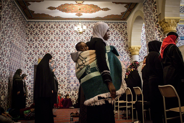 Muslim women pray the first Taraweeh evening prayer on the first day of Ramazan at the Nizamiye Mosque in Midrand, Johannesburg on May 16. — AFP