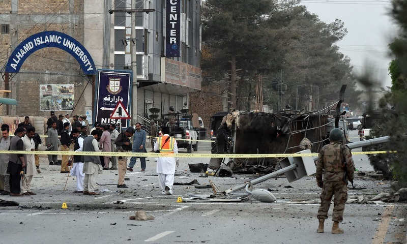 FC personnel kill 5 suspected suicide bombers who attacked Madadgar Centre in Quetta