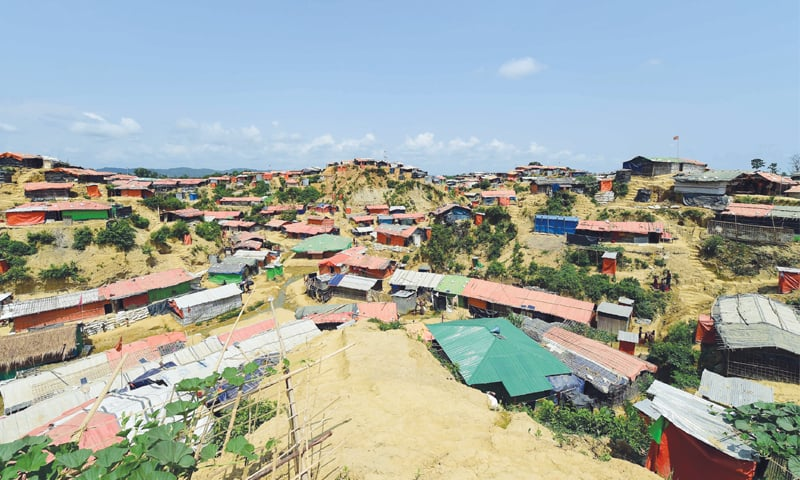 A VIEW of the Kutupalong refugee camp in Bangladesh's Ukhia district.—AFP