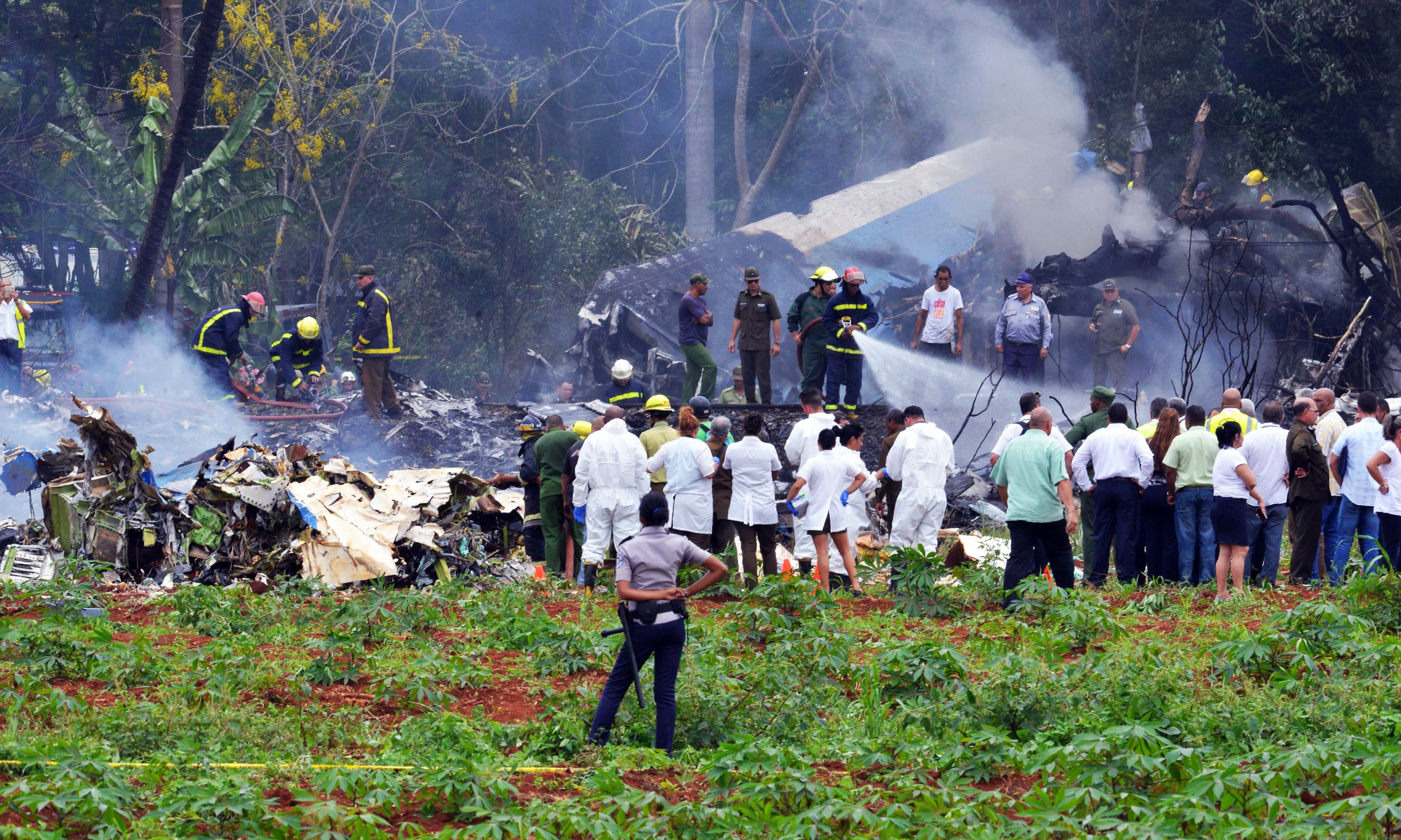 Cuban airliner with 113 on board crashes after takeoff from Havana