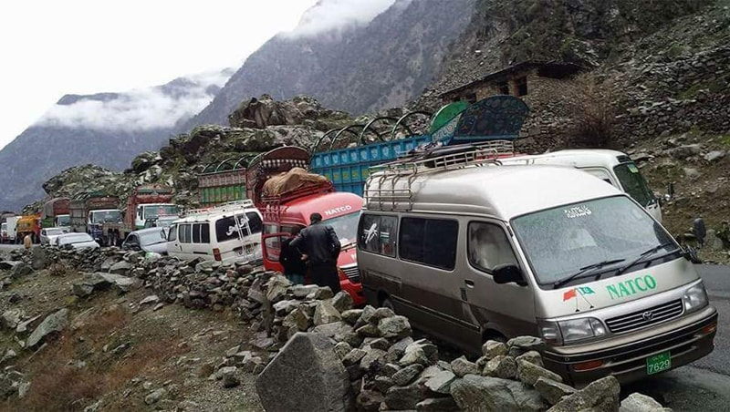 Landslides inevitably lead to traffic being gridlocked, often for hours on end