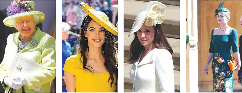 From Left To Right Queen Elizabeth Ii Amal Clooney Ss Of Cambridge And