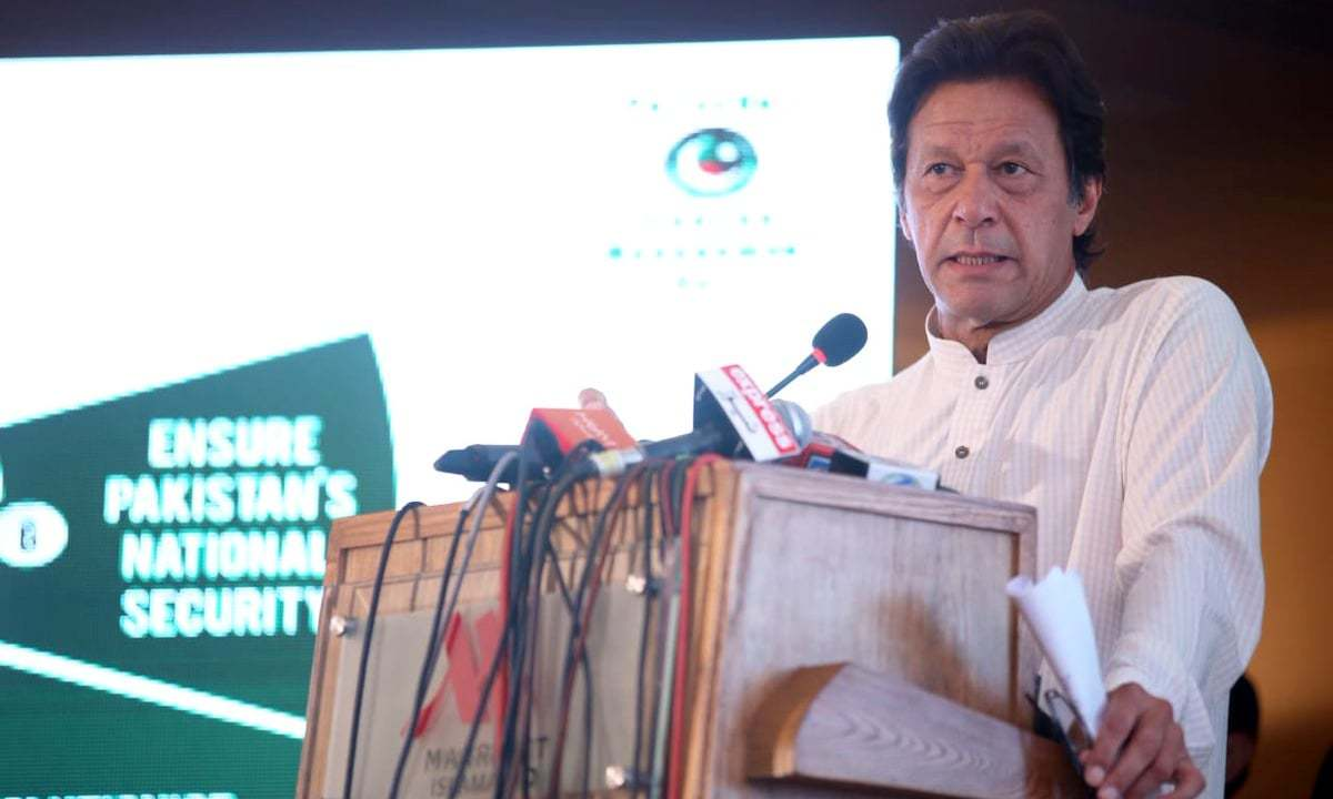 """These 100 days reflect the path for which the country was made,"" Khan unveils 100-day plan. — PTI Twitter"