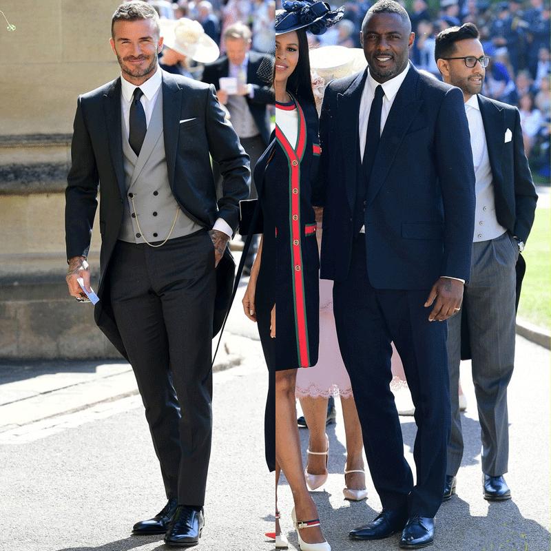 L-R: Idris Elba, David Beckham