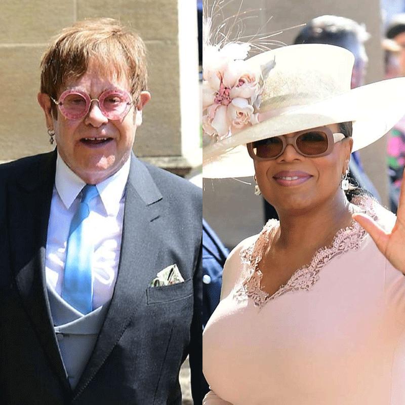 L-R: Elton John, Oprah