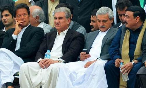 PTI stalwarts Shah Mahmood, Jahangir Tareen in clash of egos at party meeting