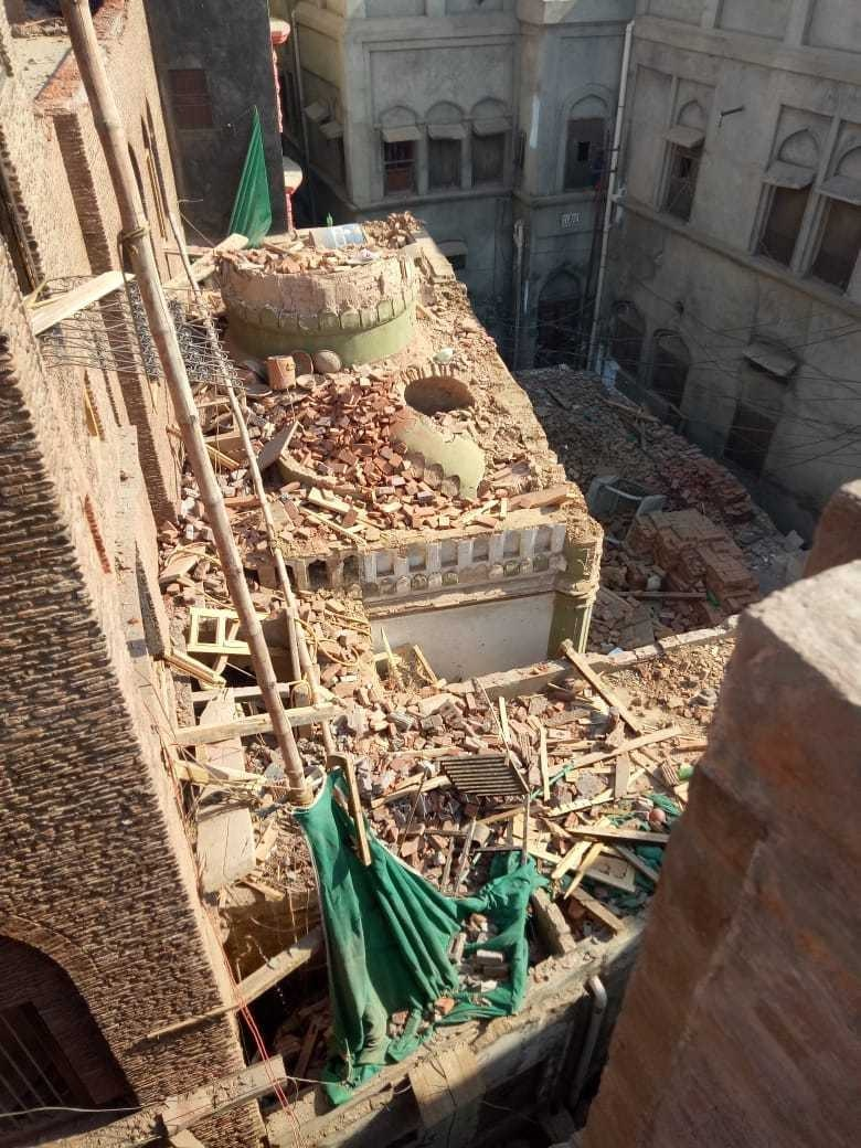 Image of the destroyed minaret. ─ Local source