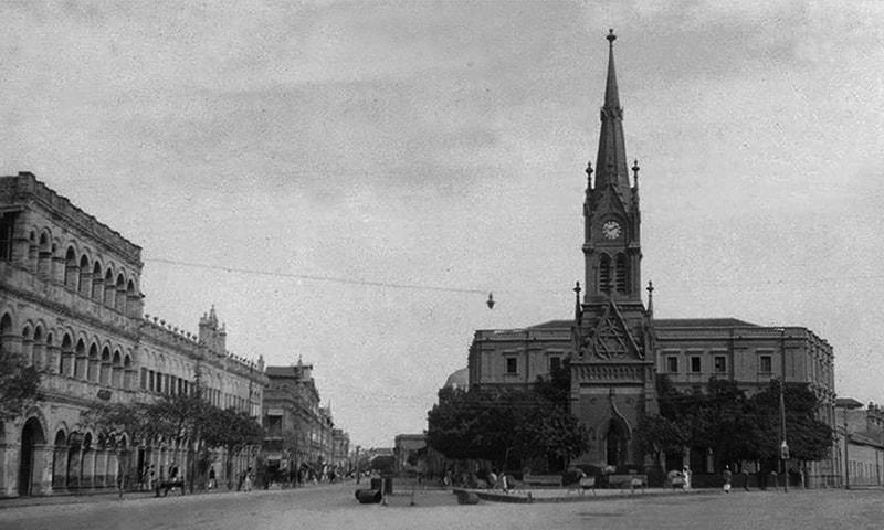 1930 کی دہائی میں میری ویدر ٹاور کی کھینچی گئی ایک تصویر۔