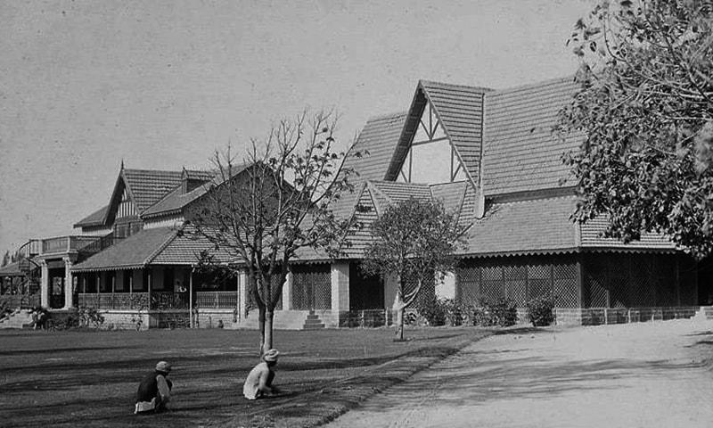 1930 کی دہائی میں کراچی جیم خانہ۔