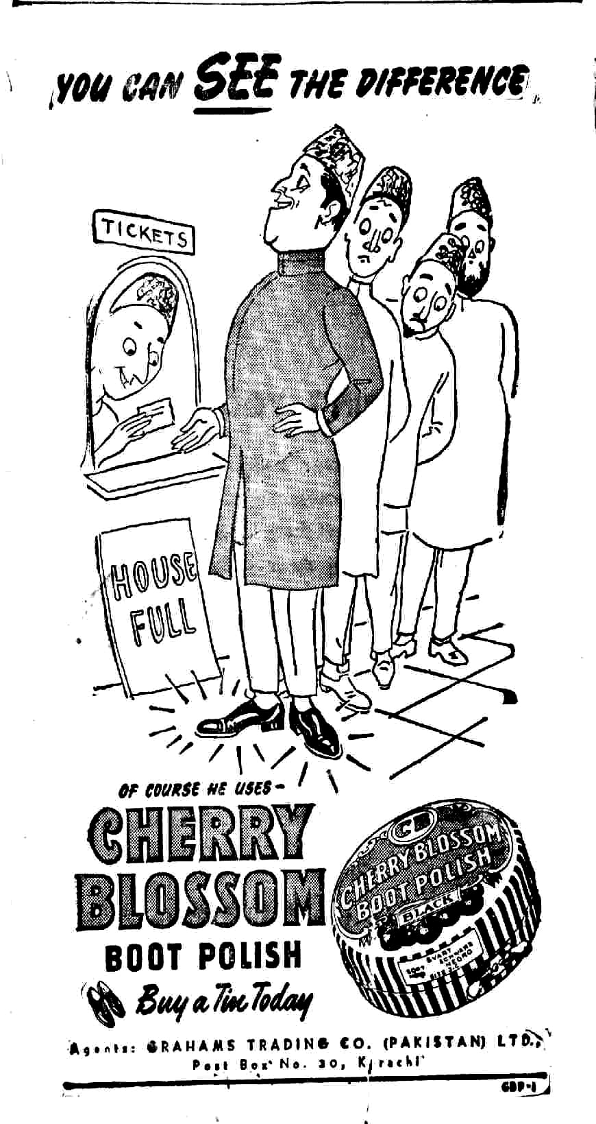 Cherry Blossom's ad from 1952