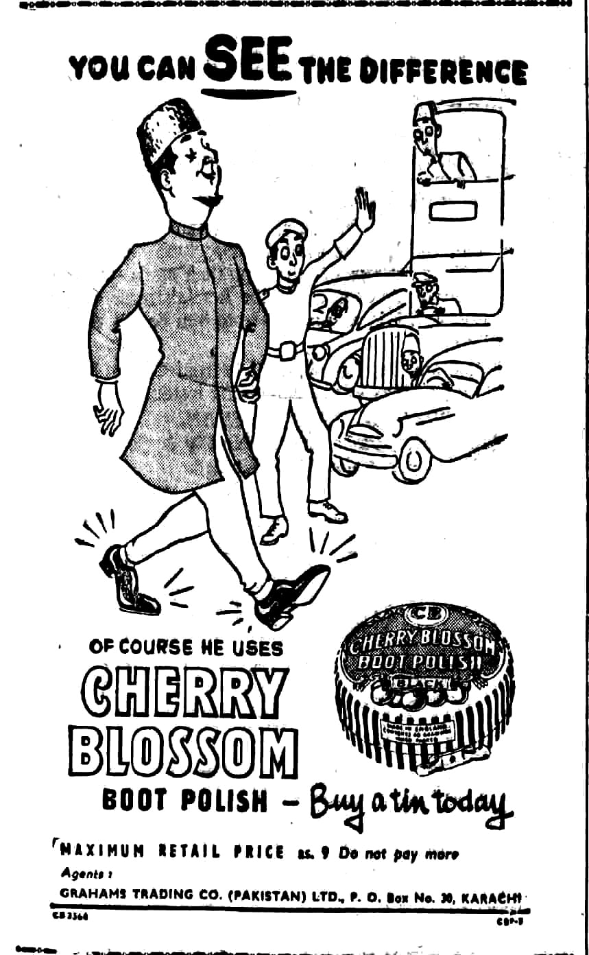 Cherry Blossom's ad from 1953