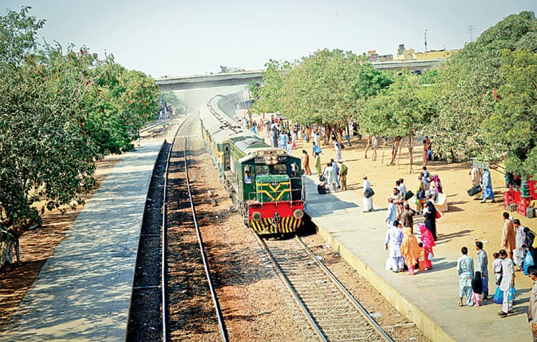 A train pulls into Landhi station, Karachi. The ML1 project will upgrade the speed and quality of the railway from Karachi to Havelian, with plans to extend it to Peshawar and even Khunjerab. At the moment however, the project's cost is proving too high and its approvals are taking longer than the government imagined.