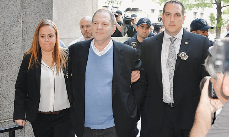 Movie producer Weinstein charged with rape, abuse