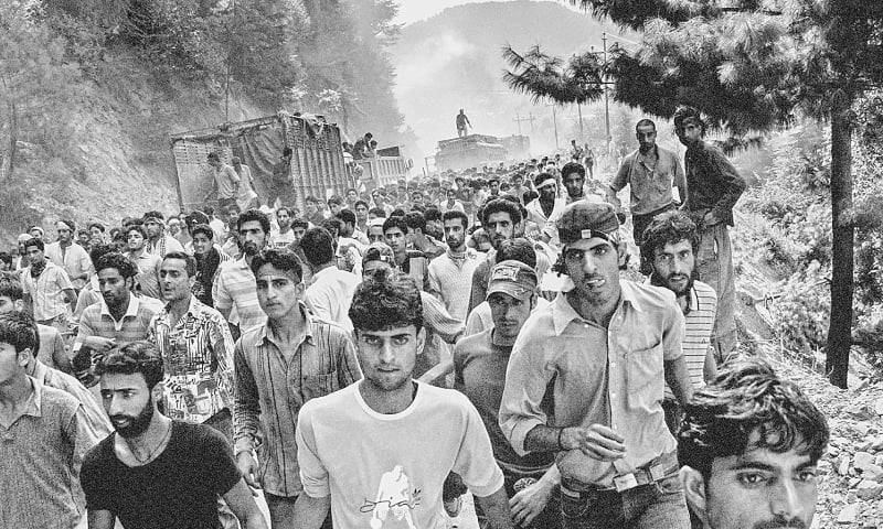 On August 11, 2008, due to an economic blockade enforced by right-wing Hindus near Jammu city, hundreds of thousands of people marched toward the Line of Control. Six protestors including a top pro-freedom leader were killed in the firing incident