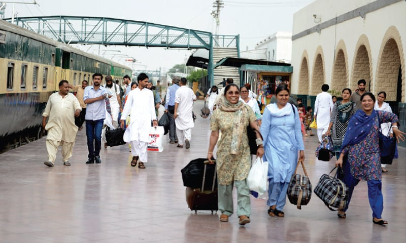 Unable to book train seats, passengers turn to black market tickets before Eid