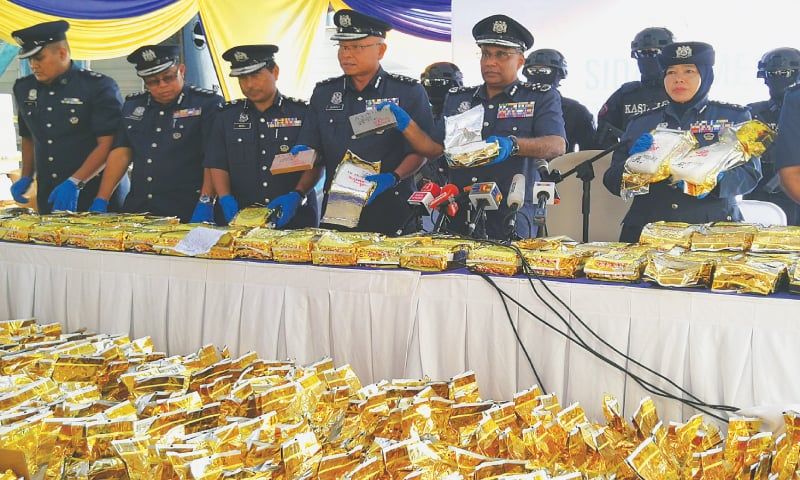 Malaysia makes record bust of crystal meth shipped from Myanmar