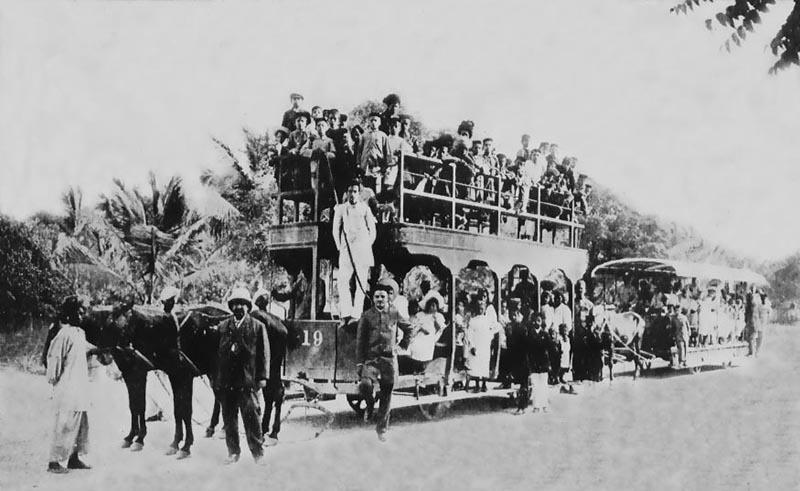 1914ء تک کراچی میں ٹرام کو گھوڑے کھینچتے رہے تھے
