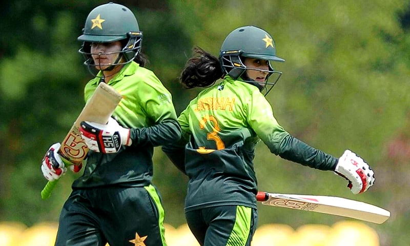 Javeria Khan and Bismah Maroof (right) forged a 49-run stand for the third wicket to get Pakistan out of trouble.—Photo by ICC