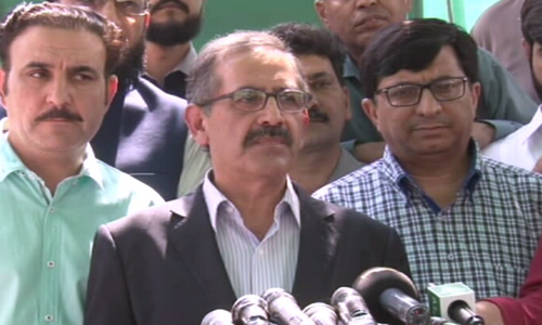 Additional Secretary ECP Akhtar Nazeer speaks to the media on Saturday. — DawnNewsTV