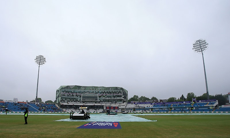 Rain delays play on the second day of the second Test. — AFP