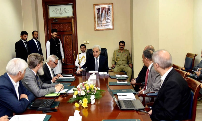 Caretaker prime minister was briefed on power sector on Tuesday. — APP