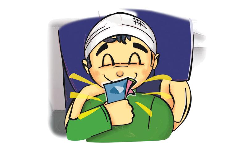 یہ عطیہ اور تحفہ اگر اپنے کسی چھوٹے کو دیا جائے تو اس کے ساتھ اپنی شفقت کا اظہار ہے — خاکہ ڈان اخبار