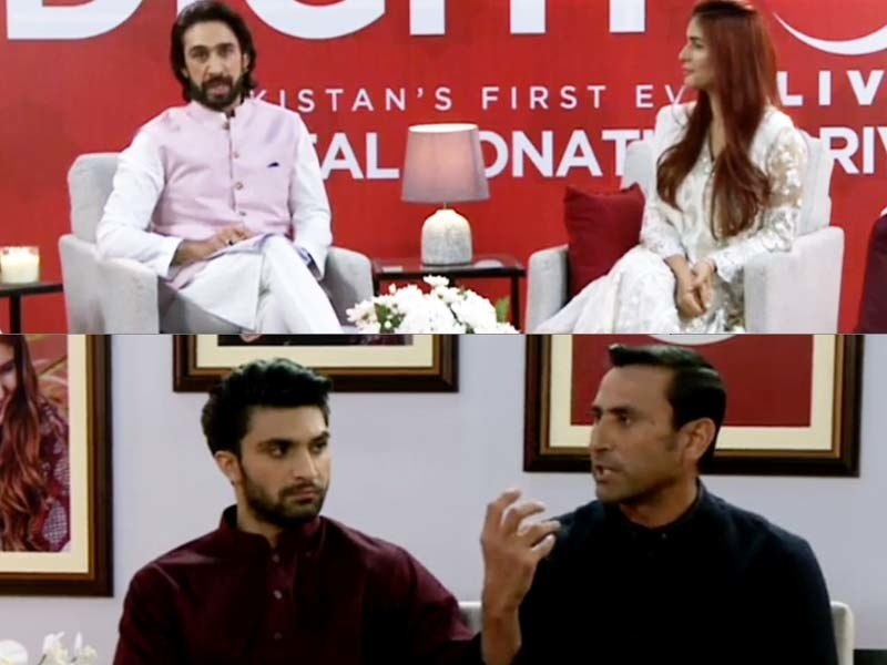 Top: Ali Rehman Khan and Momina Mustehsan, Bottom: Ahad Raza Mir and Younis Khan