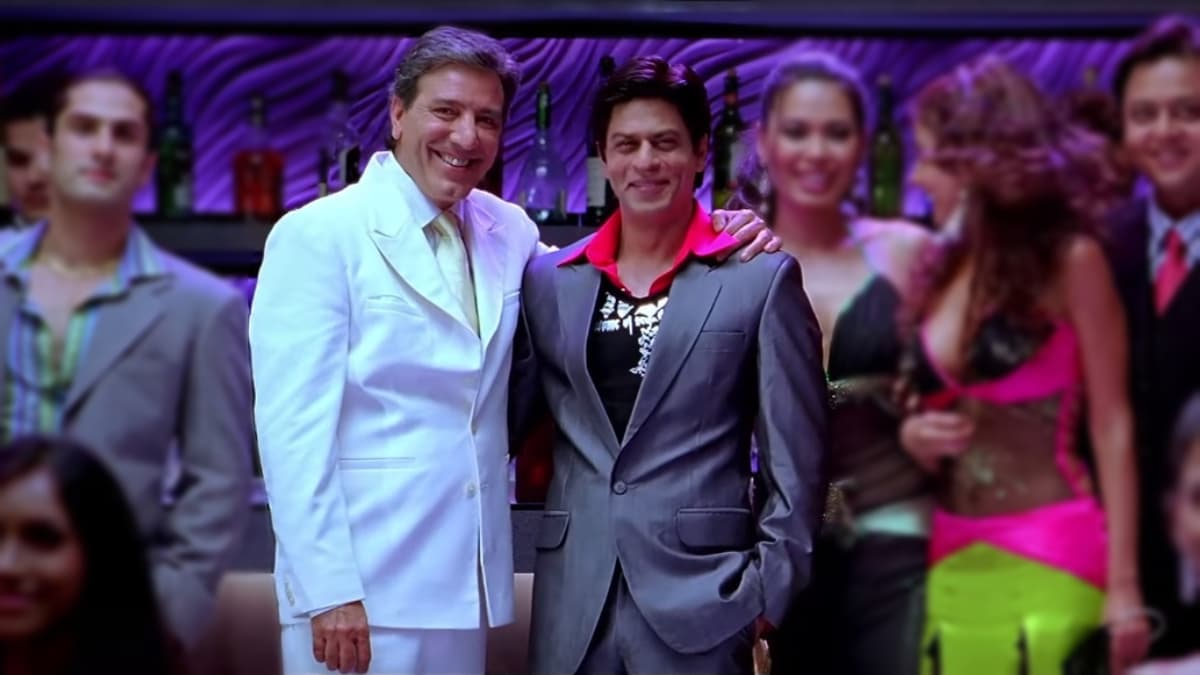 Javed Sheikh played SRK's father in Om Shanti Om