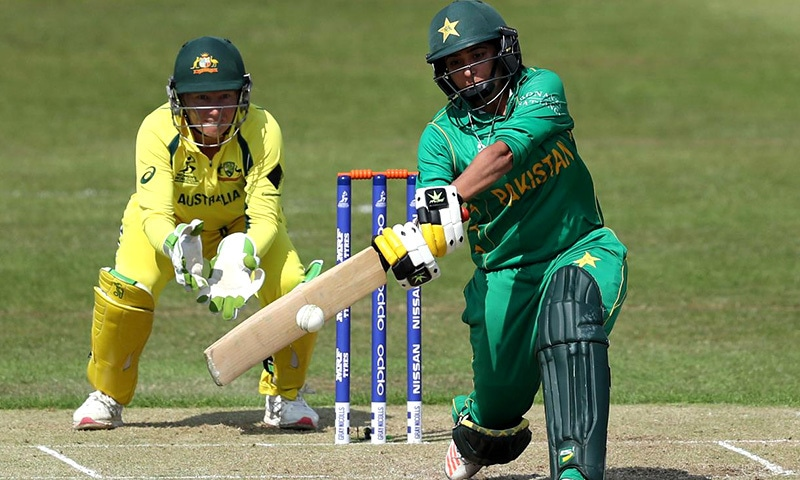 Sana-Mir-2 top scores 45 WWC Aus v Pak —Photo by ICC