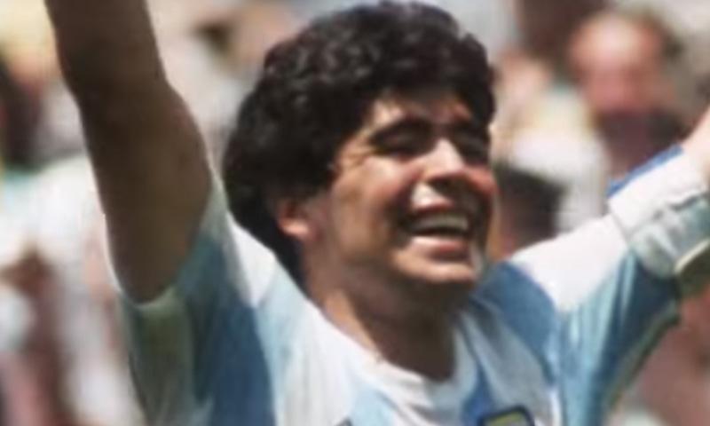 1986 کے ورلڈ کپ کا منظر— فوٹو، اسکرین شاٹ