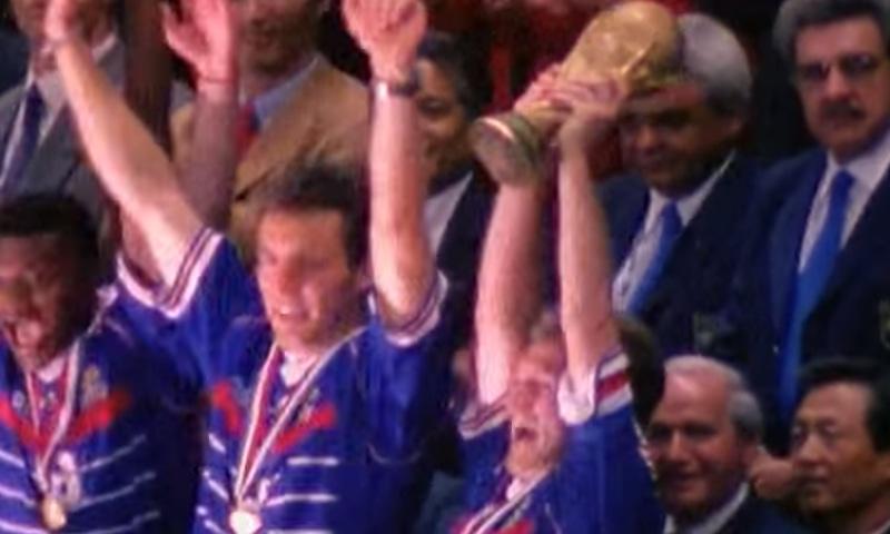 1998 کے ورلڈ کپ کا منظر— فوٹو، اسکرین شاٹ